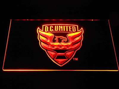 D.C. United LED Neon Sign - Orange - SafeSpecial