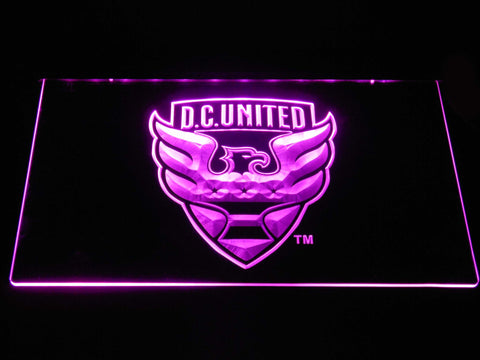 Image of D.C. United LED Neon Sign - Purple - SafeSpecial