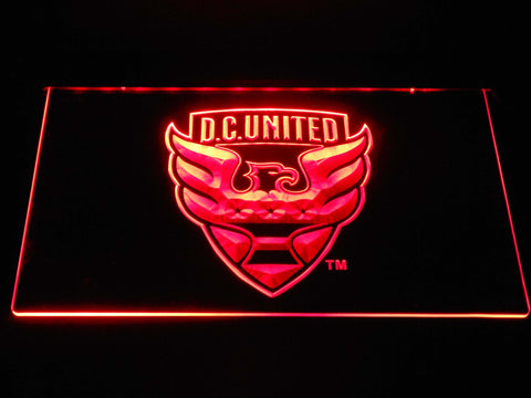 Image of D.C. United LED Neon Sign - Red - SafeSpecial