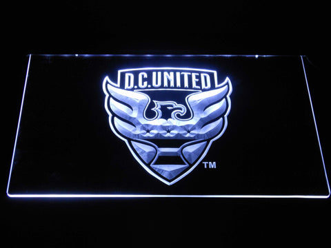 Image of D.C. United LED Neon Sign - White - SafeSpecial