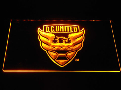Image of D.C. United LED Neon Sign - Yellow - SafeSpecial
