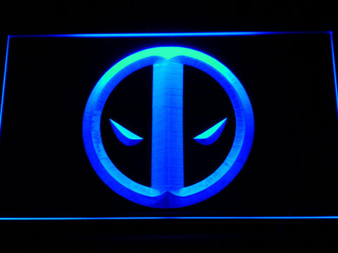 Image of Deadpool Icon LED Neon Sign - Blue - SafeSpecial