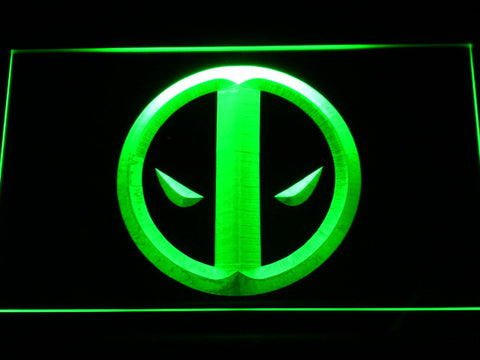 Image of Deadpool Icon LED Neon Sign - Green - SafeSpecial