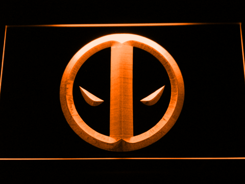 Image of Deadpool Icon LED Neon Sign - Orange - SafeSpecial
