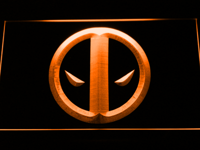 Deadpool Icon LED Neon Sign - Orange - SafeSpecial