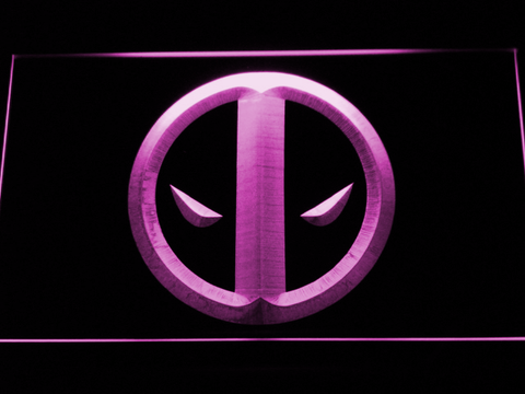 Image of Deadpool Icon LED Neon Sign - Purple - SafeSpecial