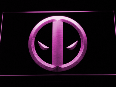 Deadpool Icon LED Neon Sign - Purple - SafeSpecial