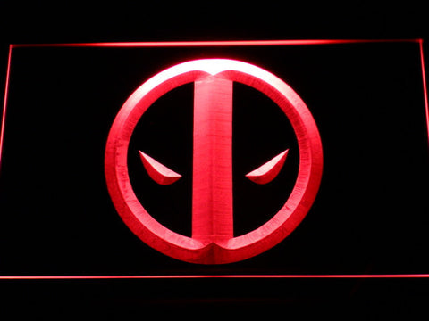 Deadpool Icon LED Neon Sign - Red - SafeSpecial
