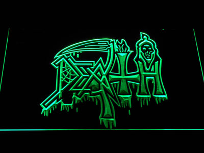 Death LED Neon Sign - Green - SafeSpecial