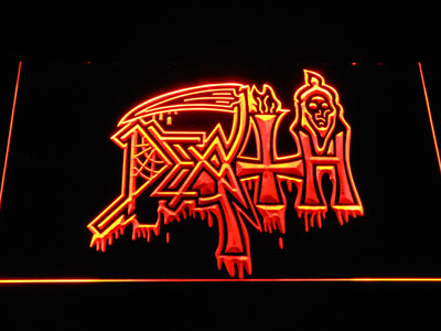 Death LED Neon Sign - Orange - SafeSpecial