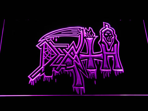 Death LED Neon Sign - Purple - SafeSpecial