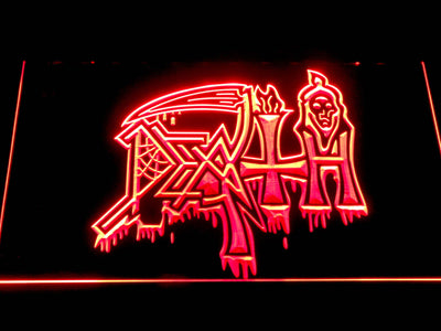 Death LED Neon Sign - Red - SafeSpecial