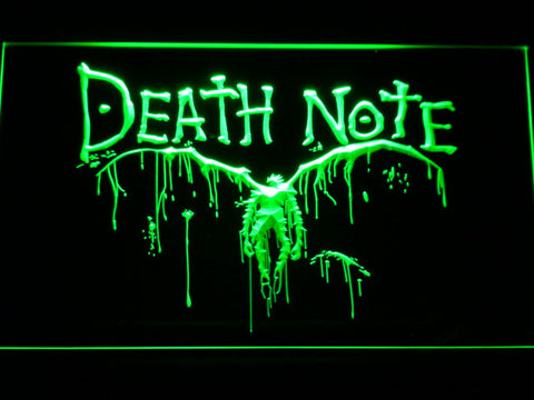 Image of Death Note Ryuk LED Neon Sign - Green - SafeSpecial