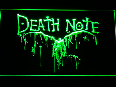 Death Note Ryuk LED Neon Sign - Green - SafeSpecial