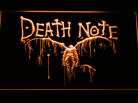 Image of Death Note Ryuk LED Neon Sign - Orange - SafeSpecial