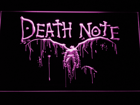 Image of Death Note Ryuk LED Neon Sign - Purple - SafeSpecial
