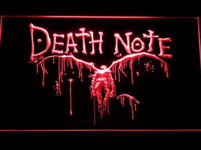 Death Note Ryuk LED Neon Sign - Red - SafeSpecial