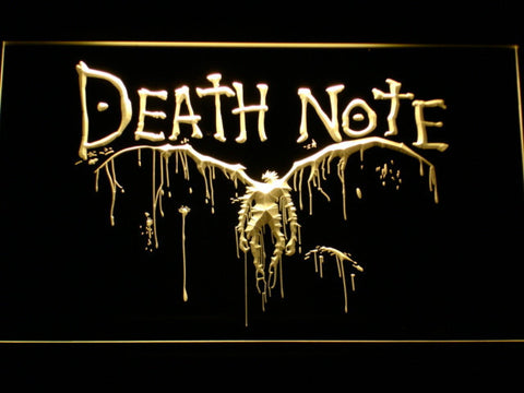 Image of Death Note Ryuk LED Neon Sign - Yellow - SafeSpecial