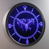 Death Note Ryuk LED Neon Wall Clock - Blue - SafeSpecial