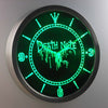 Death Note Ryuk LED Neon Wall Clock - Green - SafeSpecial