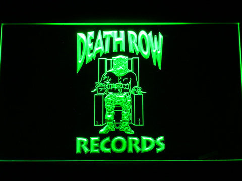 Death Row Records LED Neon Sign - Green - SafeSpecial