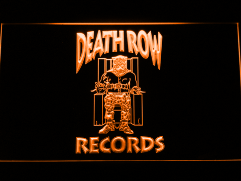 Death Row Records LED Neon Sign - Orange - SafeSpecial