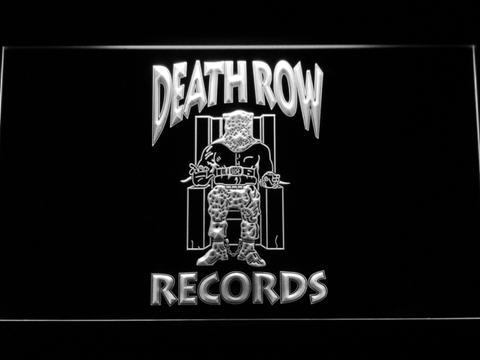 Death Row Records LED Neon Sign - White - SafeSpecial
