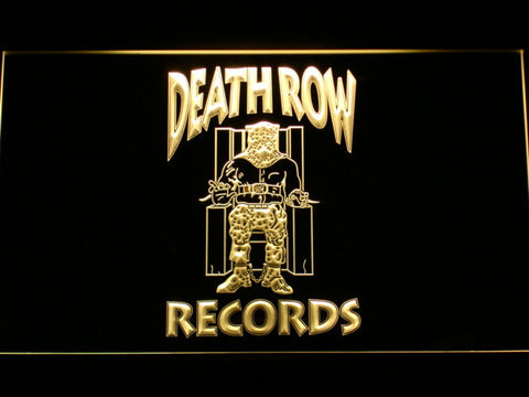 Death Row Records LED Neon Sign - Yellow - SafeSpecial