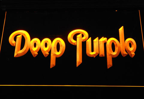 Deep Purple LED Neon Sign - Yellow - SafeSpecial