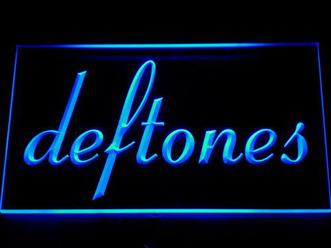 Deftones LED Neon Sign - Blue - SafeSpecial