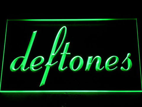 Deftones LED Neon Sign - Green - SafeSpecial