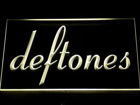 Deftones LED Neon Sign - Yellow - SafeSpecial