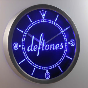 Deftones LED Neon Wall Clock - Blue - SafeSpecial