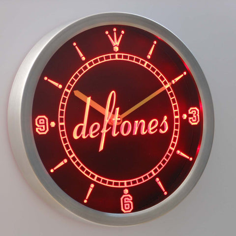 Image of Deftones LED Neon Wall Clock - Red - SafeSpecial