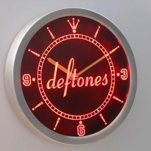 Deftones LED Neon Wall Clock - Red - SafeSpecial
