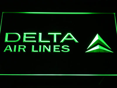 Delta Airlines LED Neon Sign - Green - SafeSpecial