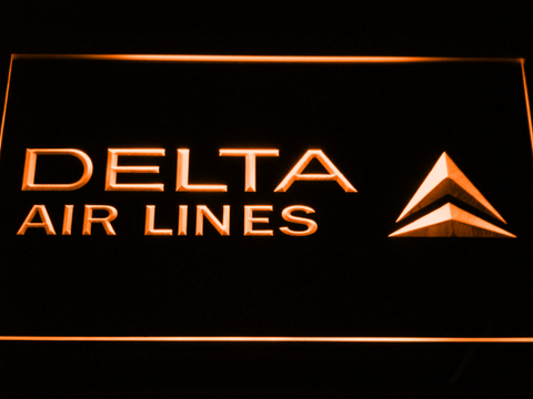 Image of Delta Airlines LED Neon Sign - Orange - SafeSpecial