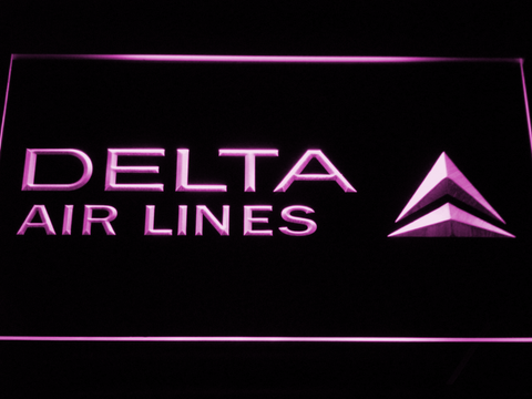 Image of Delta Airlines LED Neon Sign - Purple - SafeSpecial