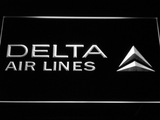 Delta Airlines LED Neon Sign - White - SafeSpecial