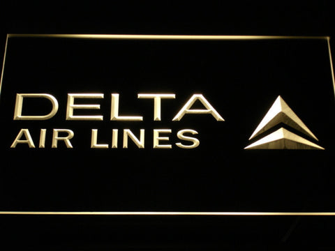 Image of Delta Airlines LED Neon Sign - Yellow - SafeSpecial