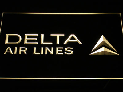 Delta Airlines LED Neon Sign - Yellow - SafeSpecial