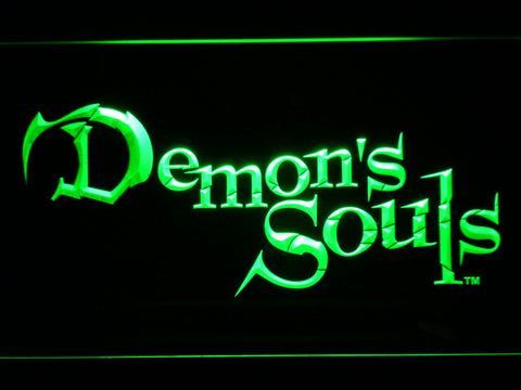 Image of Demon's Souls LED Neon Sign - Green - SafeSpecial
