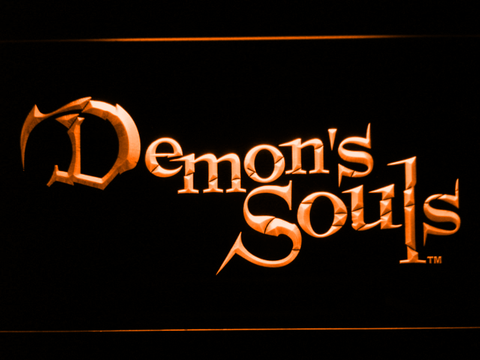Image of Demon's Souls LED Neon Sign - Orange - SafeSpecial