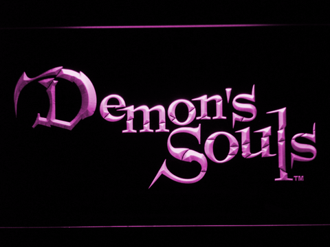 Image of Demon's Souls LED Neon Sign - Purple - SafeSpecial