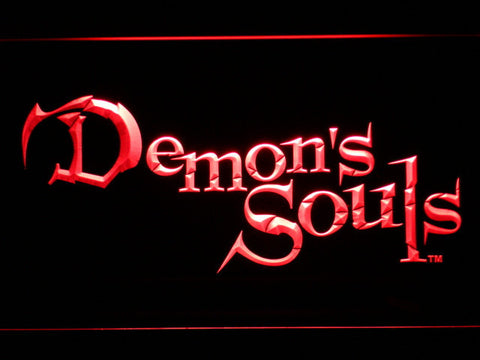 Image of Demon's Souls LED Neon Sign - Red - SafeSpecial