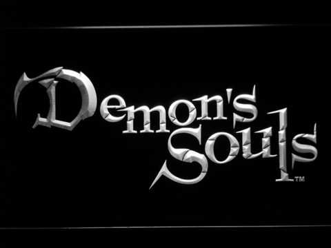 Image of Demon's Souls LED Neon Sign - White - SafeSpecial