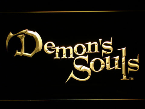 Image of Demon's Souls LED Neon Sign - Yellow - SafeSpecial