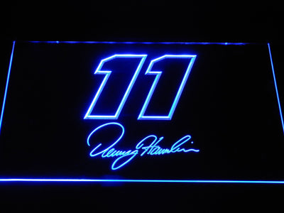 Denny Hamlin Signature 11 LED Neon Sign - Blue - SafeSpecial
