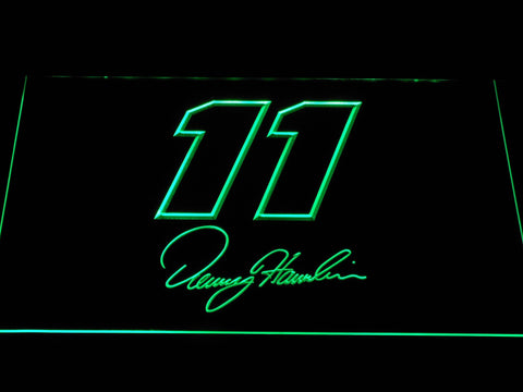 Denny Hamlin Signature 11 LED Neon Sign - Green - SafeSpecial
