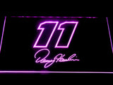 Denny Hamlin Signature 11 LED Neon Sign - Purple - SafeSpecial